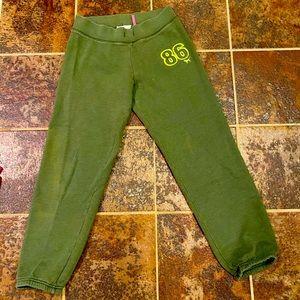 Olive green Victoria's Secret pink sweatpants